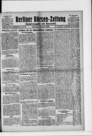 Berliner Börsen-Zeitung vom 14.06.1920