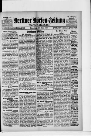 Berliner Börsen-Zeitung vom 15.06.1920
