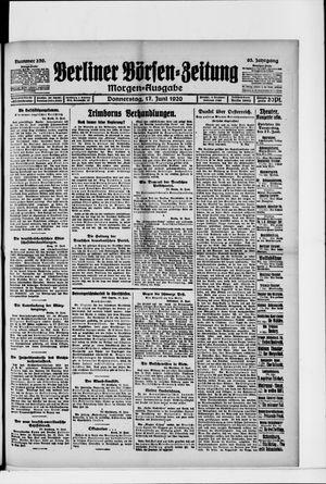 Berliner Börsen-Zeitung vom 17.06.1920
