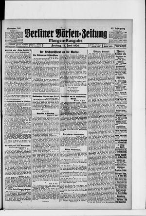 Berliner Börsen-Zeitung vom 18.06.1920