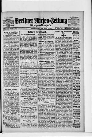 Berliner Börsen-Zeitung vom 19.06.1920