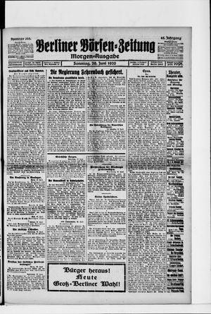 Berliner Börsen-Zeitung vom 20.06.1920
