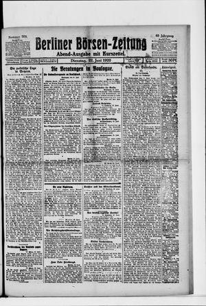 Berliner Börsen-Zeitung on Jun 22, 1920