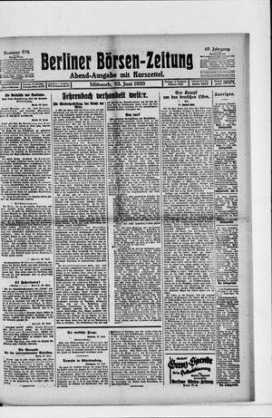 Berliner Börsen-Zeitung vom 23.06.1920