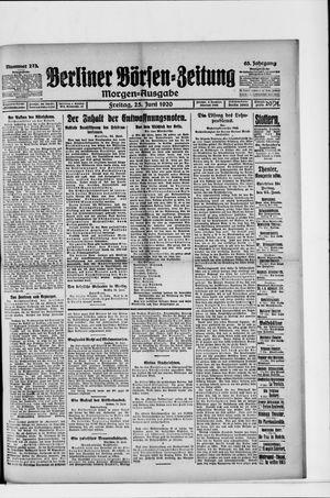 Berliner Börsen-Zeitung vom 25.06.1920