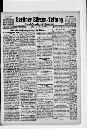 Berliner Börsen-Zeitung vom 07.07.1920