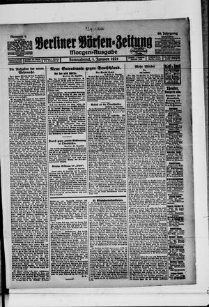 Berliner Börsen-Zeitung vom 01.01.1921