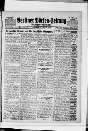 Berliner Börsen-Zeitung vom 04.01.1921