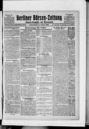 Berliner Börsen-Zeitung vom 08.01.1921