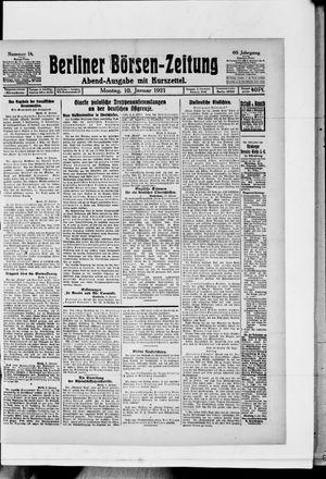 Berliner Börsen-Zeitung vom 10.01.1921