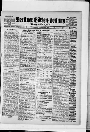 Berliner Börsen-Zeitung vom 12.01.1921
