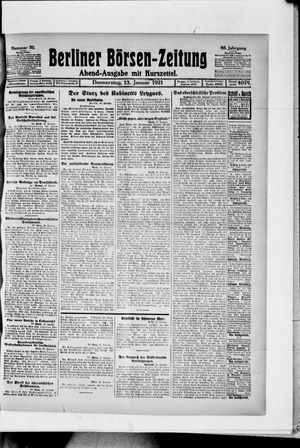 Berliner Börsen-Zeitung vom 13.01.1921