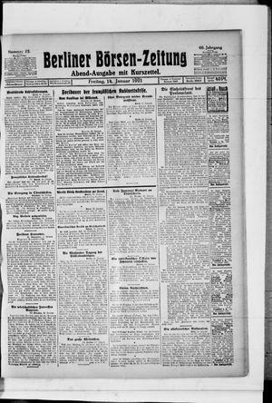 Berliner Börsen-Zeitung vom 14.01.1921