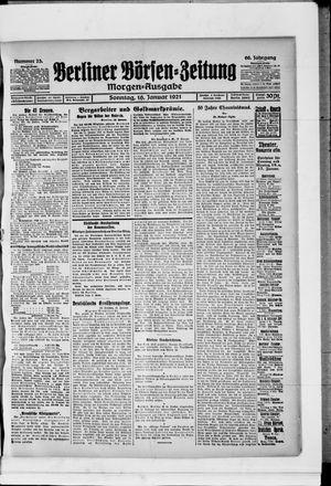 Berliner Börsen-Zeitung vom 16.01.1921