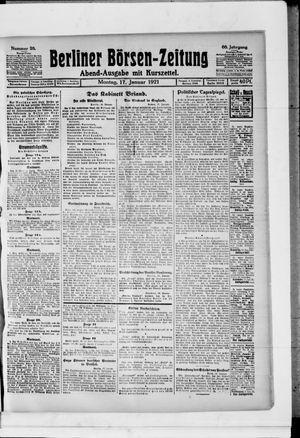Berliner Börsen-Zeitung vom 17.01.1921