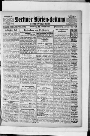 Berliner Börsen-Zeitung vom 18.01.1921
