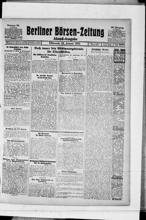 Berliner Börsen-Zeitung vom 19.01.1921