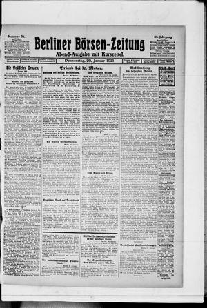 Berliner Börsen-Zeitung vom 20.01.1921