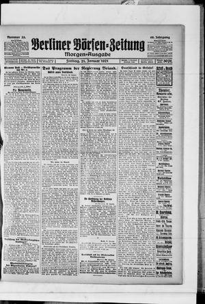 Berliner Börsen-Zeitung vom 21.01.1921