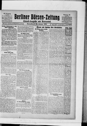 Berliner Börsen-Zeitung vom 22.01.1921
