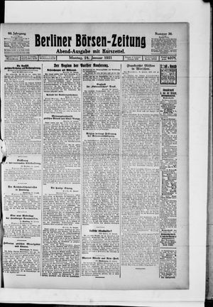 Berliner Börsen-Zeitung vom 24.01.1921