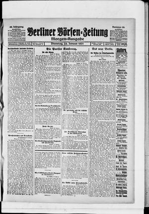 Berliner Börsen-Zeitung vom 25.01.1921