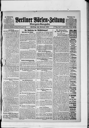 Berliner Börsen-Zeitung vom 28.01.1921