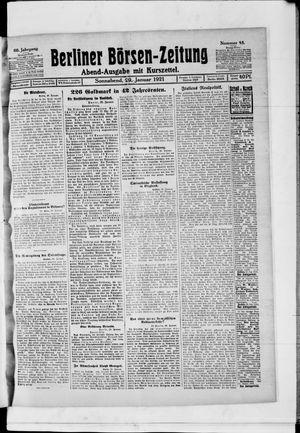 Berliner Börsen-Zeitung on Jan 29, 1921