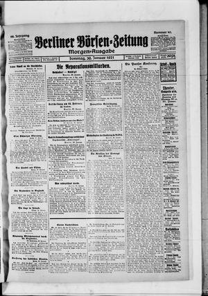 Berliner Börsen-Zeitung vom 30.01.1921