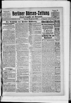 Berliner Börsen-Zeitung vom 31.01.1921