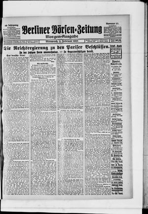 Berliner Börsen-Zeitung vom 02.02.1921