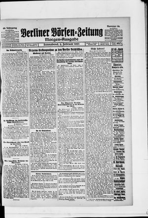 Berliner Börsen-Zeitung vom 05.02.1921