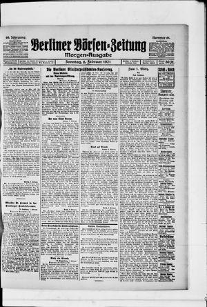 Berliner Börsen-Zeitung vom 06.02.1921