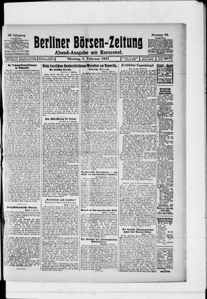 Berliner Börsen-Zeitung vom 07.02.1921