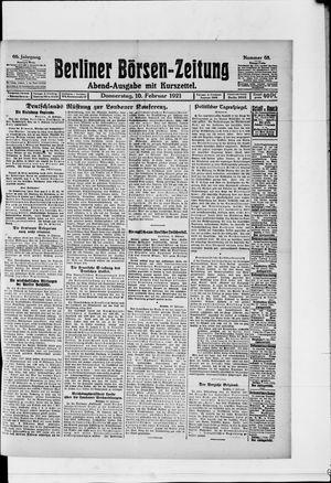 Berliner Börsen-Zeitung vom 10.02.1921