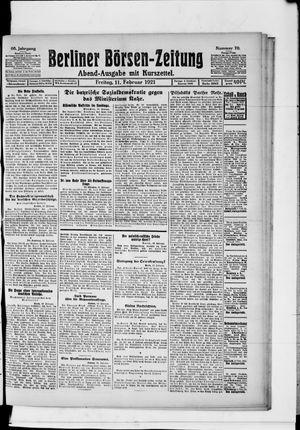 Berliner Börsen-Zeitung vom 11.02.1921
