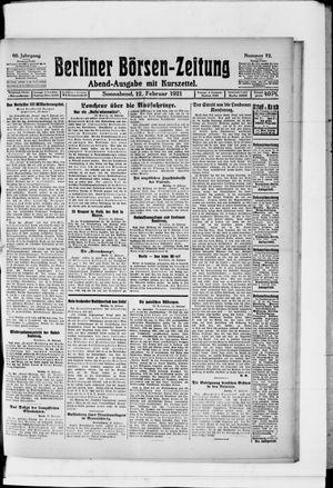 Berliner Börsen-Zeitung vom 12.02.1921