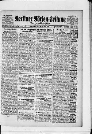 Berliner Börsen-Zeitung vom 13.02.1921