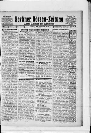 Berliner Börsen-Zeitung vom 15.02.1921