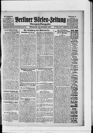Berliner Börsen-Zeitung vom 16.02.1921