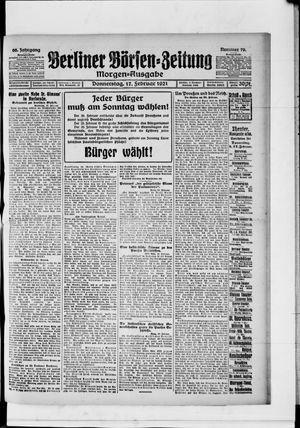 Berliner Börsen-Zeitung vom 17.02.1921