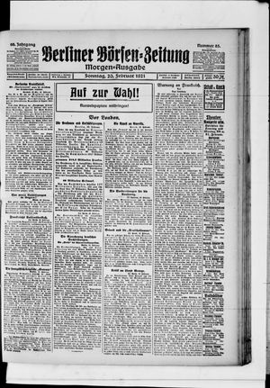 Berliner Börsen-Zeitung vom 20.02.1921