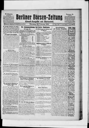 Berliner Börsen-Zeitung vom 22.02.1921