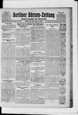 Berliner Börsen-Zeitung vom 23.02.1921