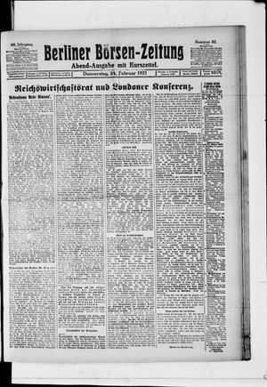 Berliner Börsen-Zeitung vom 24.02.1921