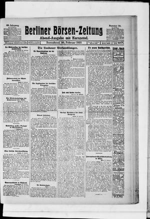 Berliner Börsen-Zeitung vom 26.02.1921