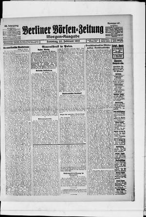 Berliner Börsen-Zeitung vom 27.02.1921