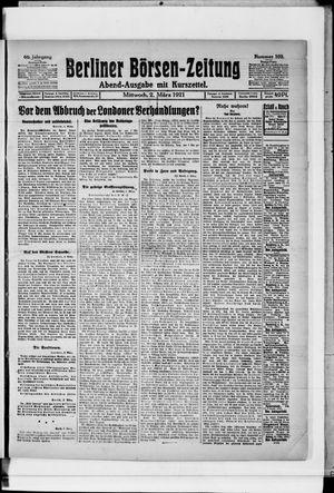 Berliner Börsen-Zeitung vom 02.03.1921