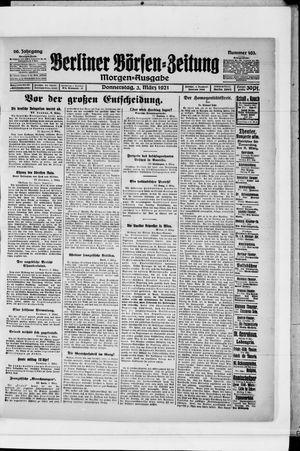 Berliner Börsen-Zeitung vom 03.03.1921