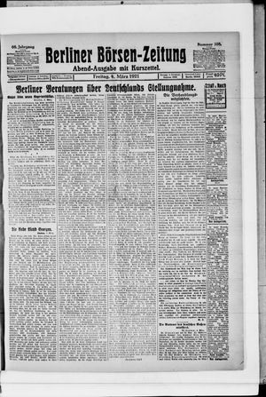 Berliner Börsen-Zeitung vom 04.03.1921